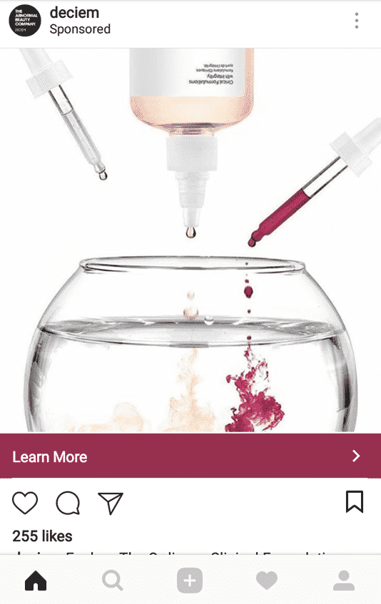 Instagram sponsored ads